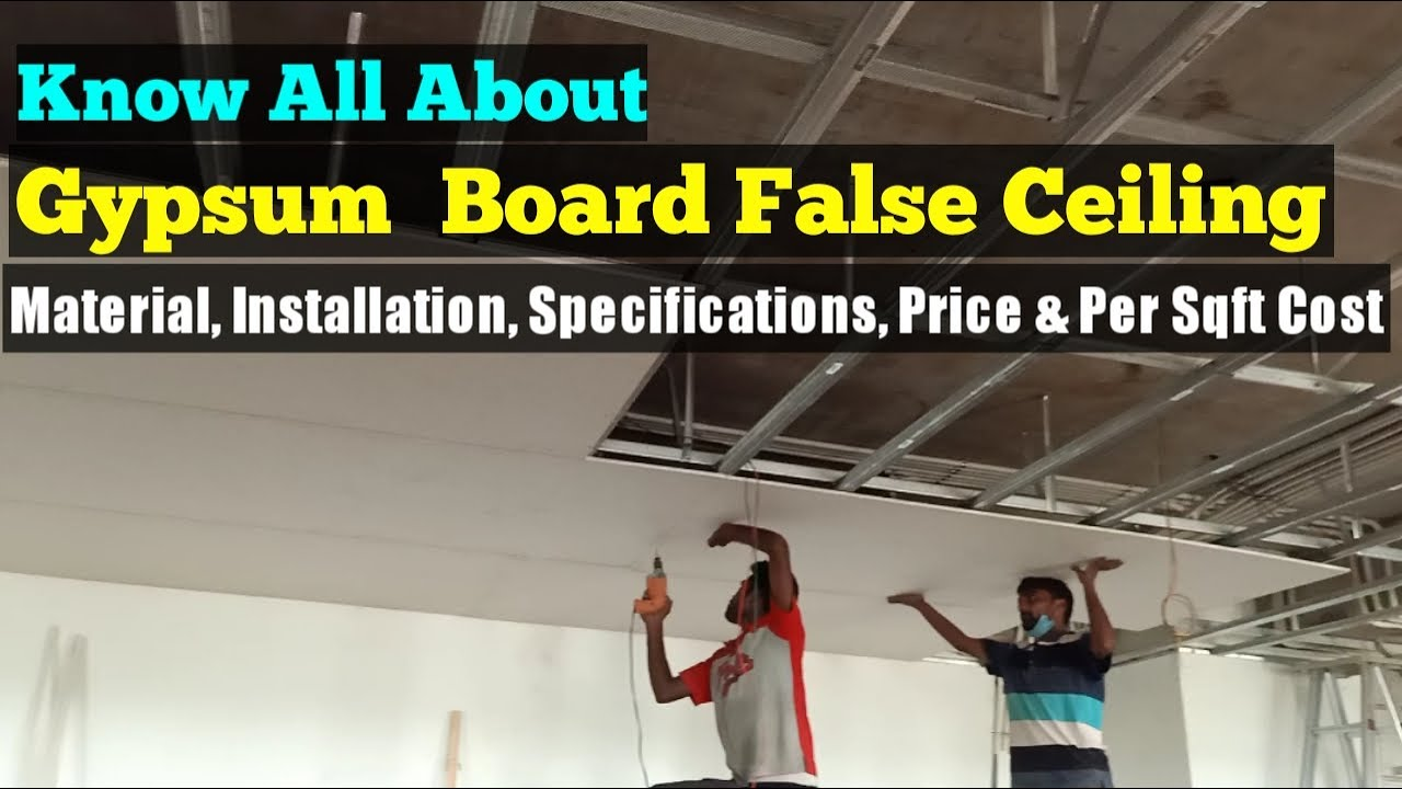 Gypsum False Ceiling Installation, Material, Cost ...