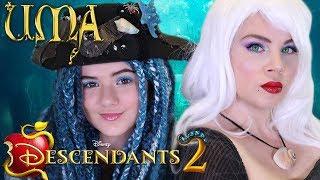 🍎 Descendants 2 Uma & Ursula 🔱 Makeup Tutorial! 💄 Makeup, Costume, DIY Wig!