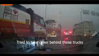 Dangerous Delhi ( India ) Dust / Hail Storm 14th May 2020 Strong Winds First Hand Experience