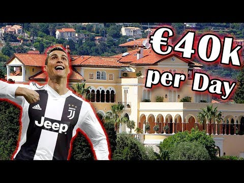 Cristiano Ronaldo's New House in Italy ! €40,000 per Night ! Most Expensive house in Italy! Designs