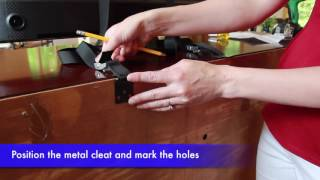 Securing TV To Furniture With Anti-Tip TV And Furniture Straps | The Baby Lodge