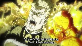 Keicho saves Okuyasu knocking him away from the socket but Red Hot ...