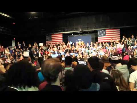 Hillary Clinton of Chappaqua spoke to more than 500 Purchase College students and Democratic Party supporters on Thursday afternoon. This is part of her 30-minute speech in which she said the path to the White House goes through New York.