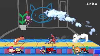 Super Smash Bros. Ultimate Ness vs Inkling vs Flaco