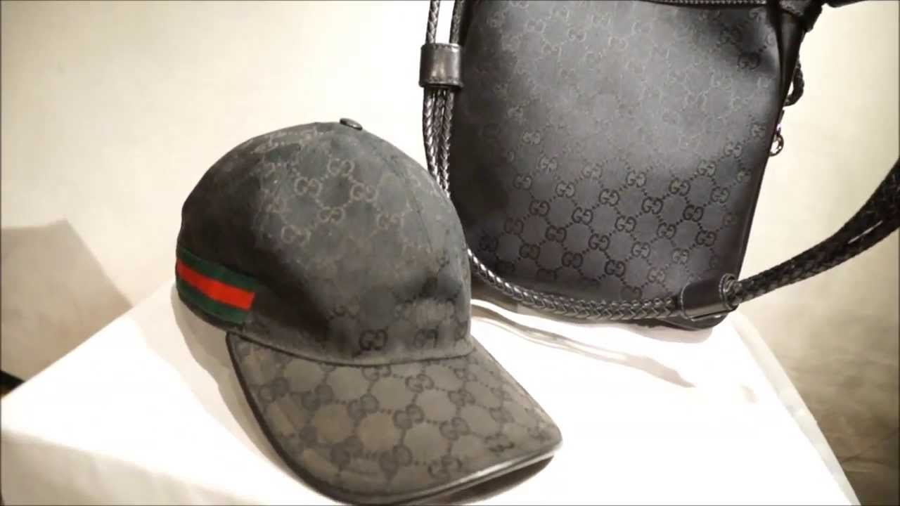 GUCCI BLACK MESSENGER AND CAP SET - YouTube aa09f4ca4f2