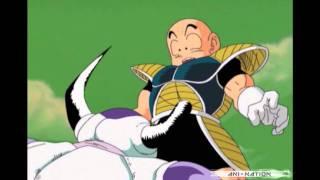 DBZ Kai: Freeza Impales Krillin (Shinryaku! Ika Musume Music)