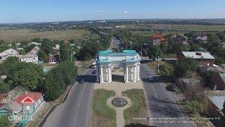 Аэросъемка города Новочеркасск Триумфальная арка