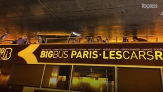 Paris: un bus touristique s'encastre dans un tunnel, un blessé grave