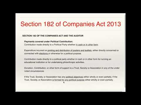 Section 182 Of Companies Act 2013 Youtube