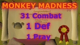 31 Combat 1 Prayer 1 Def Monkey Madness!!! Pure Tips And Tricks! Runescape 2007