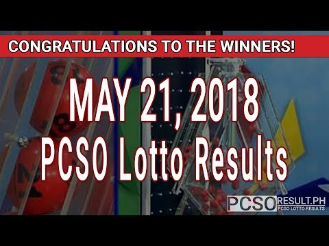 PCSO Lotto Results Today May 21, 2018 (6/55, 6/45, 4D, Swertres, STL & EZ2)