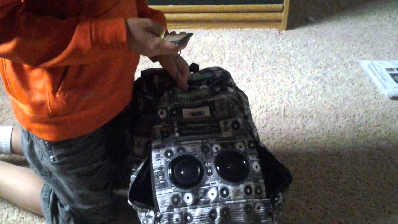 37ba80c40c7 How to use the speaker backpack from spencers youtube jpg 1280x720 Spencers  book bags