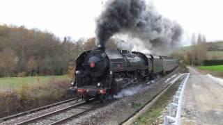 Passage du train à vapeur Toulouse, à Montastruc la Conseillère le 17 12 2011.