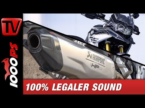 2018 BMW F850 GS Akrapovic Soundcheck