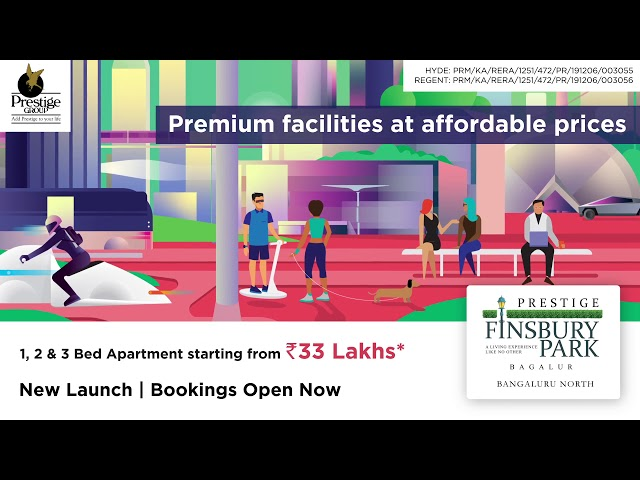 Prestige Finsbury Park - 1/2/3 BHK Apartments in Bagalur Road