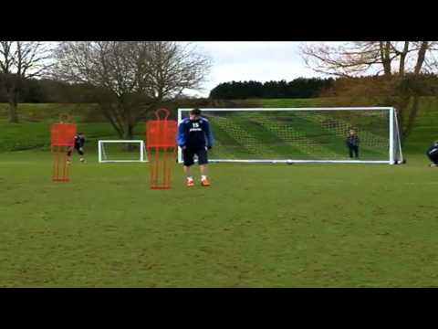 Portsmouth FC : Shooting Practice at the Training Ground