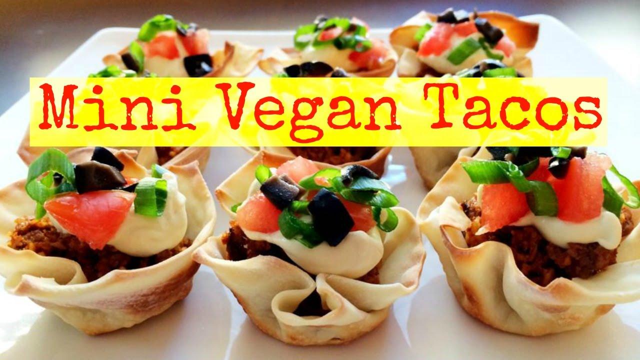 Mini Vegan Tacos - YouTube