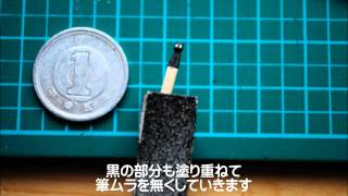 爪楊枝で日常の「阪本さん」を作ってみた つまようじ60本 検索動画 6