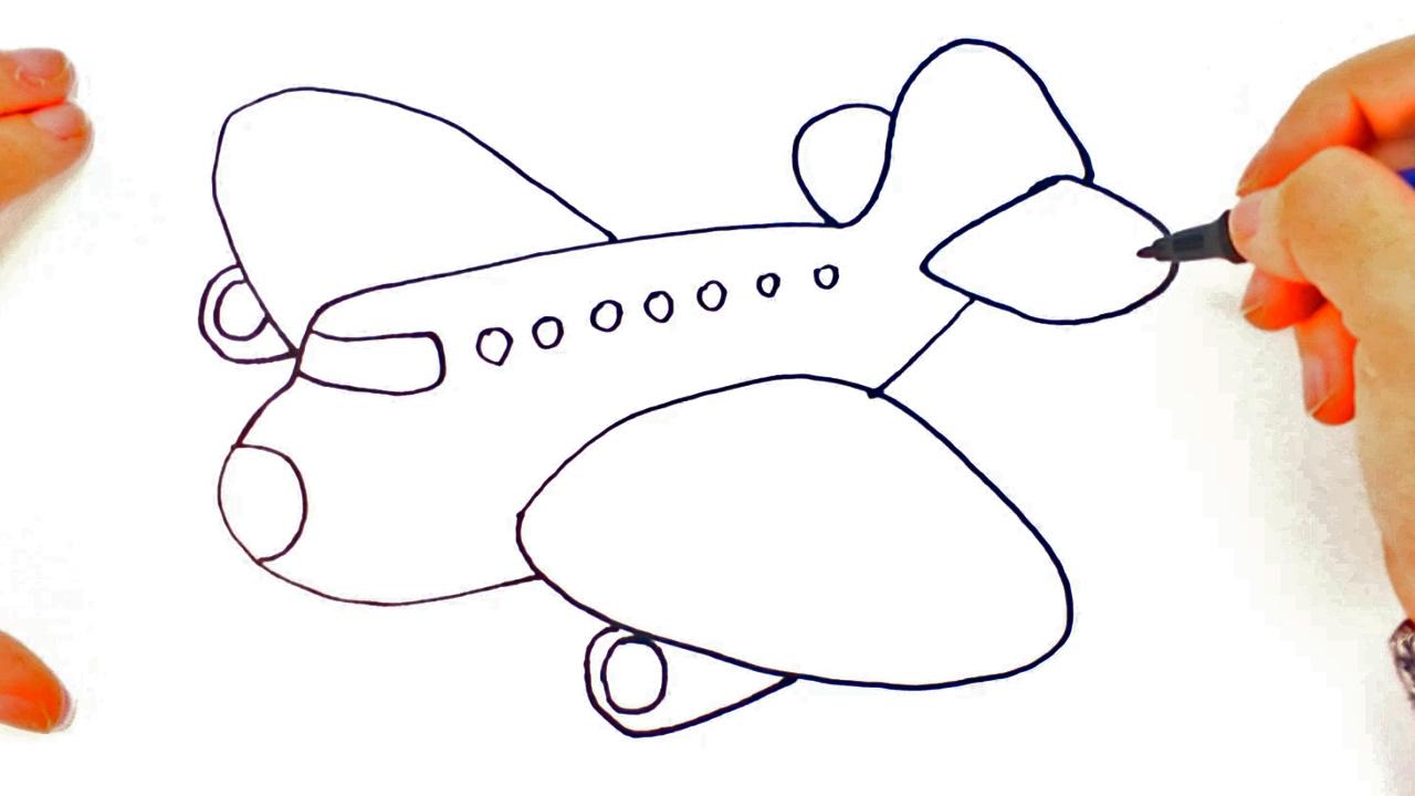 Cómo Dibujar Un Avión Para Niños Dibujo De Avión Paso A Paso
