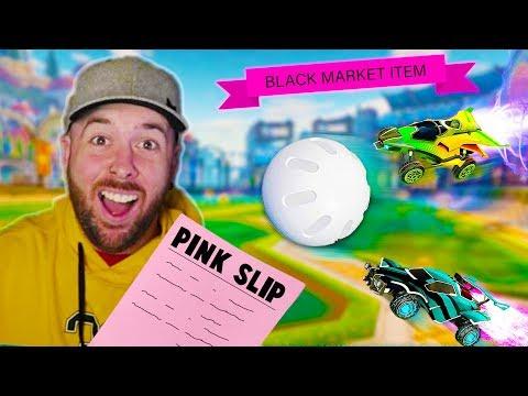Pink Slip BATTLE on Rocket League! 1v1 Modded - WINNER TAKES LOSERS ITEMS! thumbnail