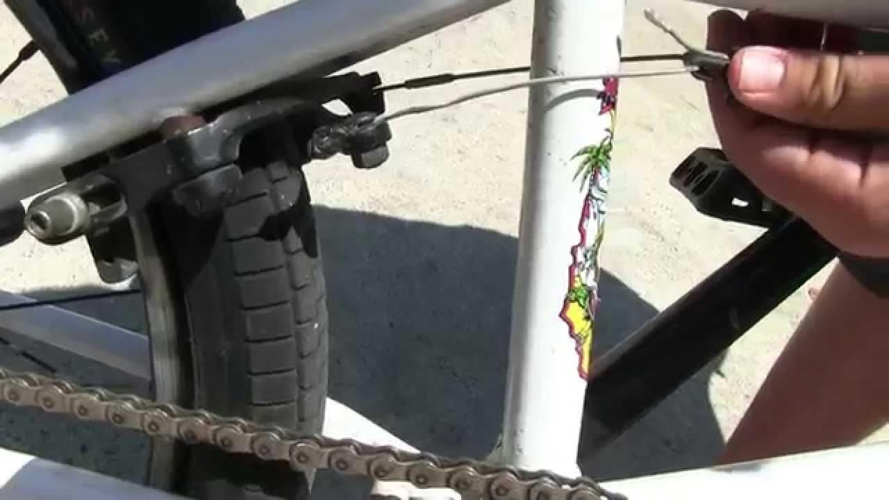 BMX Bike Brake Adjustment  YouTube