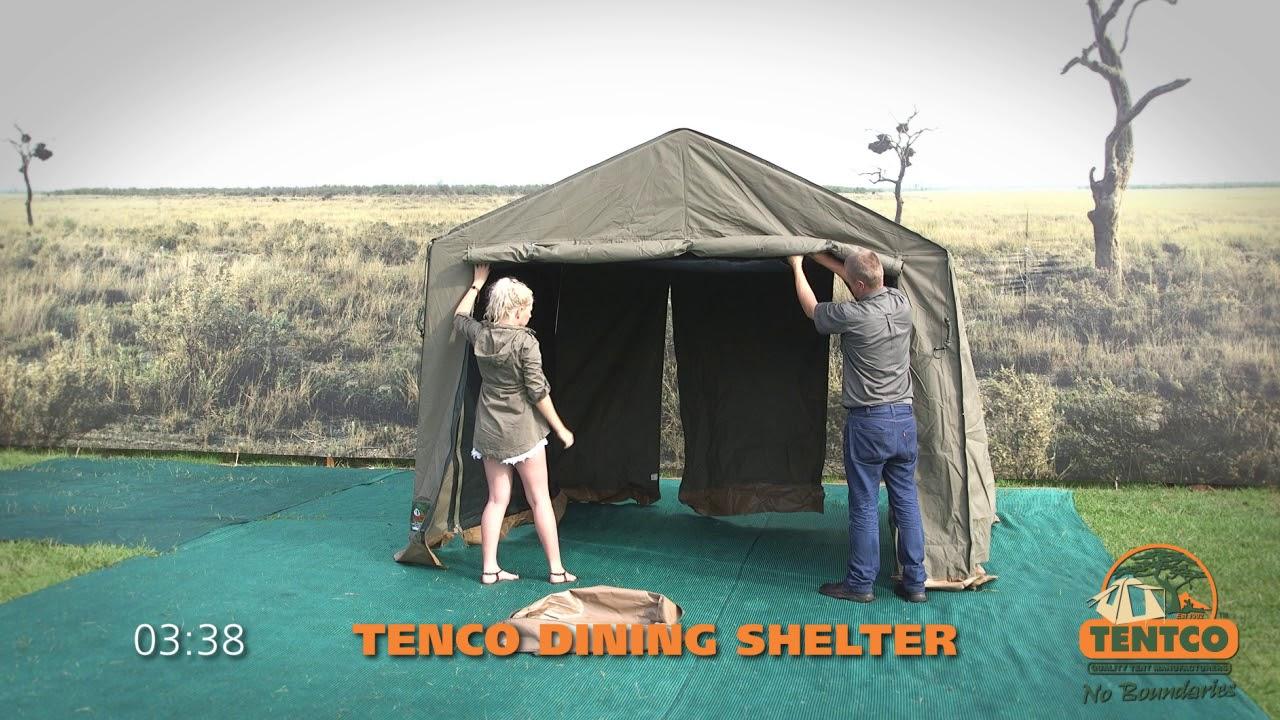 Tentco Dining Shelter & Tentco Dining Shelter - YouTube