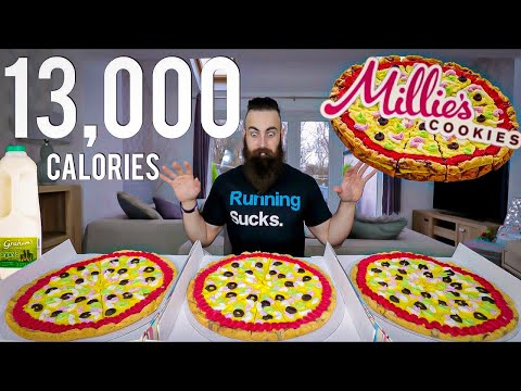 The Triple GIANT Pizza Cookie Challenge (13,000 CALORIES) | BeardMeatsFood