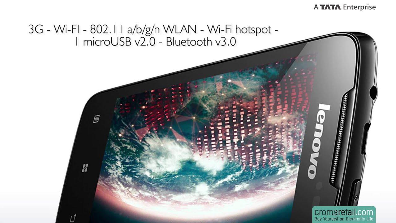 Lenovo A390 GSM Mobile Phone (Dual SIM) (Black)