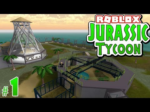 Building A Dinosaur Park In Roblox Jurassic Tycoon 1 Youtube