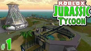 BUILDING A DINOSAUR PARK in ROBLOX - Jurassic Tycoon #1