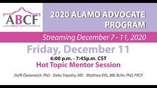 Hot Topic Mentor Session | Friday, December 11, 2020