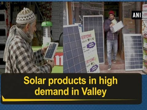 Solar products in high demand in Valley – Jammu and Kashmir News