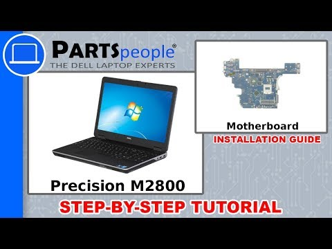Dell Precision M2800 (P29F001) Motherboard How-To Video