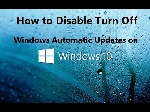 how to cancel automatic updates windows 10