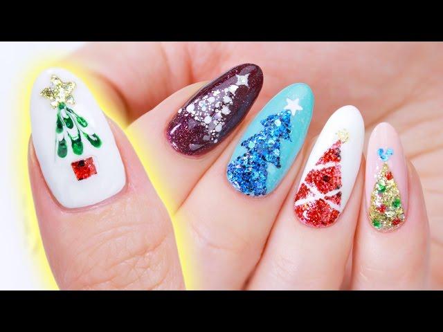 how to nail a festive christmas tree manicure tiphero
