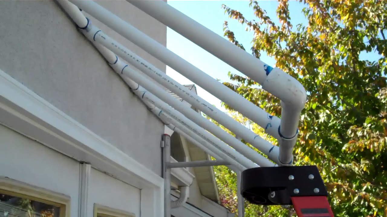 Diy Plastic Pvc Awning Project Youtube