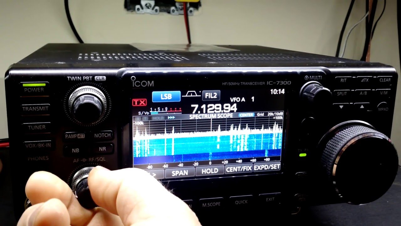 A review of the Icom IC-7300 direct RF sampling transceiver