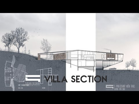 Villa Section - Photoshop Architecture