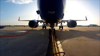 Push back of a Southwest Airlines Boeing 737