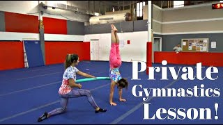 FIRST PRIVATE GYMNASTICS LESSON | ADULT GYMNASTICS