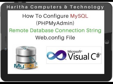 Connection String DataBase MySQL (PHPMyAdmin 4.5.1) Web.config File