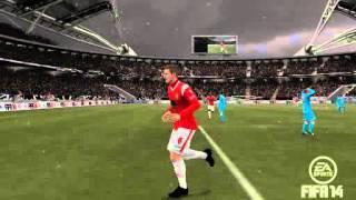 FIFA 14 Player does Muevelo Celebration