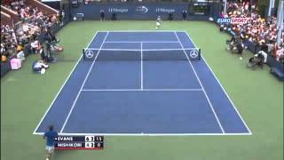 Daniel Evans vs Kei Nishikori ~ Highlights ~ US Open 2013 R1)