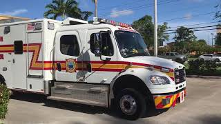 Boca Raton Fire Rescue NEW Ladder 5 And Medic 5 MVA Response