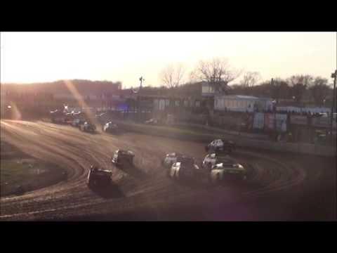 Boone Speedway Clint & Austin Luellen Sportmod Feature 4-9-16