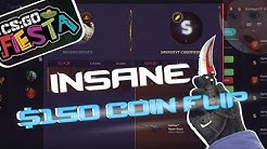 INSANE COIN FLIP AND JACKPOT BETS ON CS:GO FIESTA!!