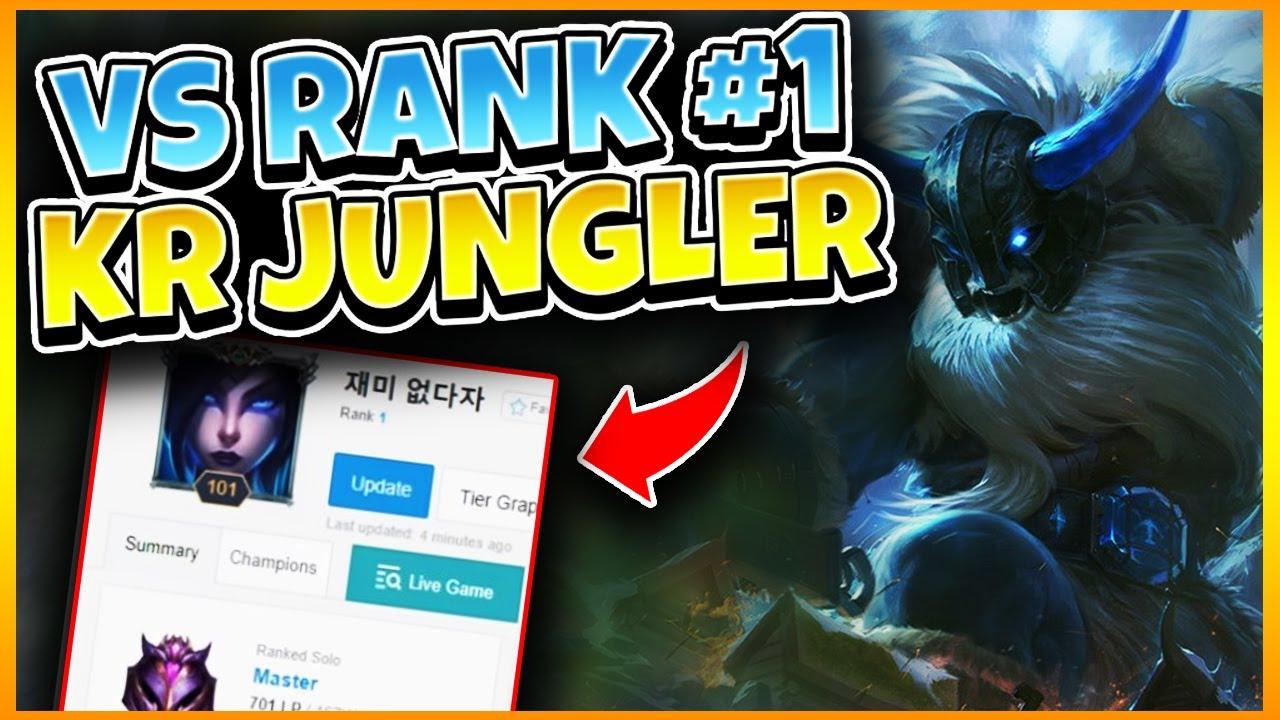 DESTROYING RANK 1 KOREAN JUNGLER | League of Legends