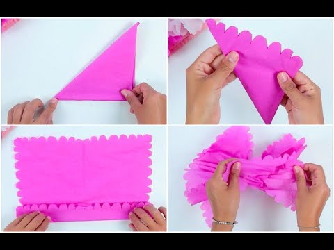 How to make a flower with a napkin