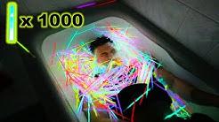 1000 LEUCHTSTÄBE VS BADEWANNE - EXPERIMENT !!!   Kelvin und Marvin