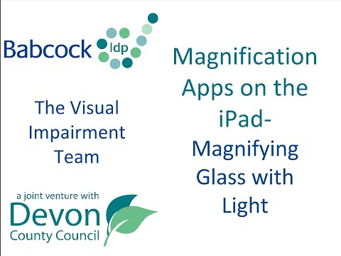 Magnification Apps on the Ipad- Magnification Glass with Light